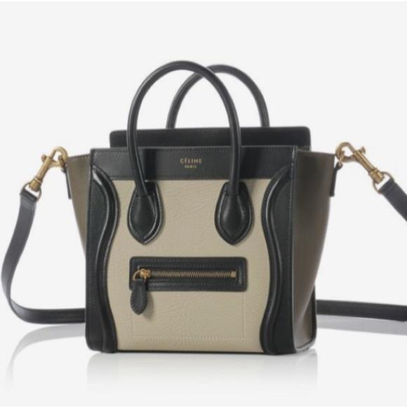 38f76c6cec Celine Handbags - HP ⭐ Celine Nano Luggage Nubuk Tricolor Crossbody